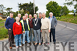 Tulip Cross on the Killorglin to Cromane road has been the scene of numerous accidents and locals are calling for the speed limit to be reduced and works carried out. <br /> Front left to right Hannah Moriarty, Harry Carey, Cllr John Francis Flynn and Denis Griffin. <br /> Back left to right Jerome Griffin, Pat Donovan, Michael Moriarty, Matt Cahillane, Raymond Griffin and John Hoare.
