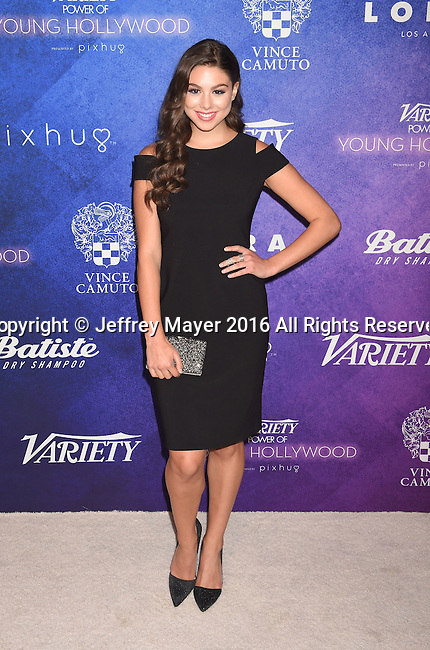 HOLLYWOOD, CA - AUGUST 16: Actress Kira Kosarin arrives at Variety's Power Of Young Hollywood at NeueHouse Hollywood on August 16, 2016 in Los Angeles, California.