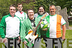 To mark Ireland's peformance in the European Championships local musicians have recorded a song. .Front L-R Damien O'Brien, Frank Coyne and Vince Vis. .Back L-R Niall and Dan Sweeney.