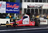 May 13, 2016; Commerce, GA, USA; NHRA top fuel driver Shawn Langdon during qualifying for the Southern Nationals at Atlanta Dragway. Mandatory Credit: Mark J. Rebilas-USA TODAY Sports