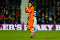 3rd March 2020; The Hawthorns, West Bromwich, West Midlands, England; English FA Cup Football, West Bromwich Albion versus Newcastle United; Miguel Almiron of Newcastle United applauds the travelling fans as he leaves the pitch after being substituted