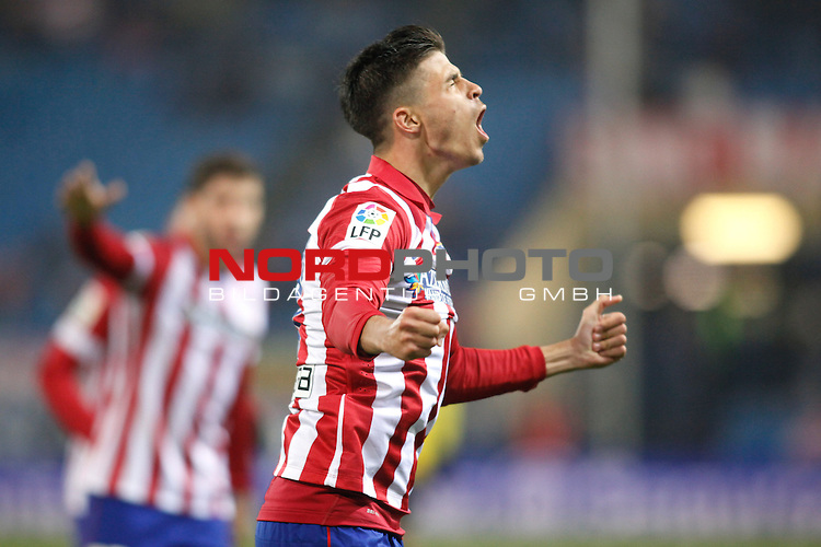 Atletico de Madrid¬¥s Hector celebrates the goal of the victory during Copa del Rey 2013-14 match at Vicente Calderon Stadium in Madrid, Spain. Foto © nordphoto / Victor Blanco) *** Local Caption ***