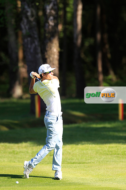 Rafa CABRERA-BELLO (ESP) during round 1 of the 2015 BMW PGA Championship over the West Course at Wentworth, Virgina Water, London. 21/05/2015<br /> Picture Fran Caffrey, www.golffile.ie: