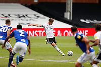 4th July 2020; Craven Cottage, London, England; English Championship Football, Fulham versus Birmingham City; Tom Cairney of Fulham taking a free kick
