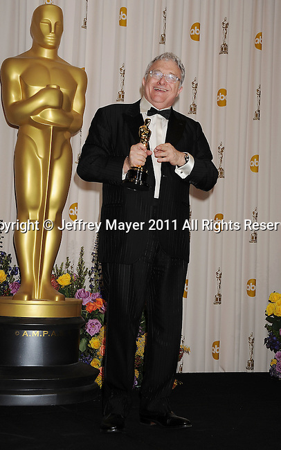 HOLLYWOOD, CA - FEBRUARY 27: Randy Newman poses in the press room during the 83rd Annual Academy Awards held at the Kodak Theatre on February 27, 2011 in Hollywood, California.