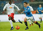Barrie McKay takes on Dayot Upamecano