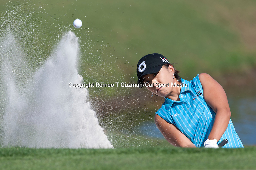 November 18, 2011: Mi Hyun Kim (South Korea) hits out off the green side bunker on 3 during second round golf action from the CME Group Titleholders held at The Grand Cypress Resort, Orlando, Fla.