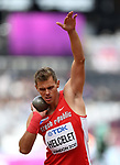 Adam Sebastian HELCELET (CZE) in the mens decathlon shot put. IAAF world athletics championships. London Olympic stadium. Queen Elizabeth Olympic park. Stratford. London. UK. 11/08/2017. ~ MANDATORY CREDIT Garry Bowden/SIPPA - NO UNAUTHORISED USE - +44 7837 394578