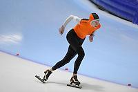 SCHAATSEN: HEERENVEEN: Thialf, 4th Masters International Speed Skating Sprint Games, 25-02-2012, Thea Kroontje (F65) 1st, ©foto: Martin de Jong