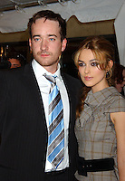 "MATTHEW MacFADYEN & KEIRA KNIGHTLEY.2005 Toronto Film Festival - ""Pride and Prejudicer"" Premiere held at Roy Thompson Hall, Toronto, Ontario..September 11th, 2005.Photo Credit: Laura Farr/AdMedia.half length grey gray sleeveless dress plaid check black suit jacket blue tie.www.capitalpictures.com.sales@capitalpictures.com.© Capital Pictures."