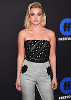 HOLLYWOOD, CA - JANUARY 18:  Olivia Holt  at the Freeform Summit at NeueHouse on January 18, 2018 in Hollywood, California. (Photo by Scott Kirkland/PictureGroup)