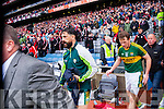 Paul Galvin, Kerry players after defeating Tyrone in the All Ireland Semi Final at Croke Park on Sunday.