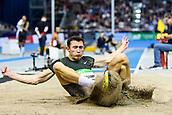 2nd February 2019, Karlsruhe, Germany;  Long jump Men: Winner Thobias Nilsson Montler (SWE). IAAF Indoor athletics maeeting, Karlsruhe