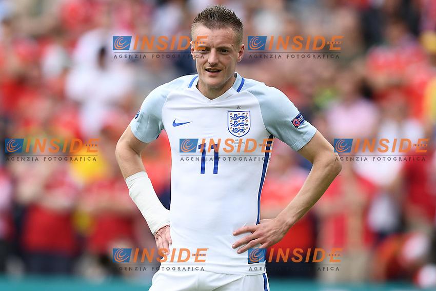Jamie Vardy <br /> Lens 16-06-2016 Stade Bollaert-Delelis Footballl Euro2016 England - Wales / Inghilterra - Galles Group Stage Group B. Foto Matteo Gribaudi / Image Sport / Insidefoto