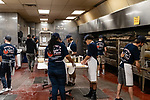 MIDDLEBURY CT. 11 January 2019-011119 - Workers who makes minimum wage at Dominic's and Vinnie's Pizza in Middlebury make lots of pizzas for customers on Saturday. Bill Shettle Republican-American