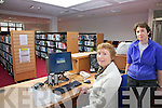 Cahersiveen Library will reopen on Tuesday next 20th March, having had a huge make over, pictured here the librarians l-r; Noreen O'Sullivan & Hazel Joy making final adjustments in preparation for Tuesday next.