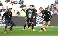 Burnley players warm-up prior to the game<br /> <br /> Photographer Rob Newell/CameraSport<br /> <br /> The Premier League - West Ham United v Burnley - Saturday 3rd November 2018 - London Stadium - London<br /> <br /> World Copyright &copy; 2018 CameraSport. All rights reserved. 43 Linden Ave. Countesthorpe. Leicester. England. LE8 5PG - Tel: +44 (0) 116 277 4147 - admin@camerasport.com - www.camerasport.com