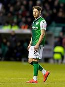 2nd February 2019, Easter Road, Edinburgh, Scotland; Ladbrokes Premiership football, Hibernian versus Aberdeen; Marc McNulty of Hibernian makes his debut