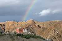Rainbow at Phyang Monastery, Ladakh, India.