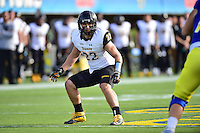 Newark, DE - OCT 29, 2016: Towson Tigers linebacker Bryton Barr (22) in action during game between Towson and Delaware at Delaware Stadium Tubby Raymond Field in Newark, DE. (Photo by Phil Peters/Media Images International)