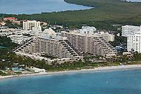aerial photograph Key Colony condominiums Key Biscayne Florida