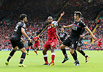 Liverpool's Daniel Sturridge finds himself crowded by Crystal Palace's defence during the premier league match at the Anfield Stadium, Liverpool. Picture date 19th August 2017. Picture credit should read: David Klein/Sportimage