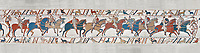 Bayeux Tapestry scene 51a : Duke William talks to his soldiers ordering them into battle.  BYX51a