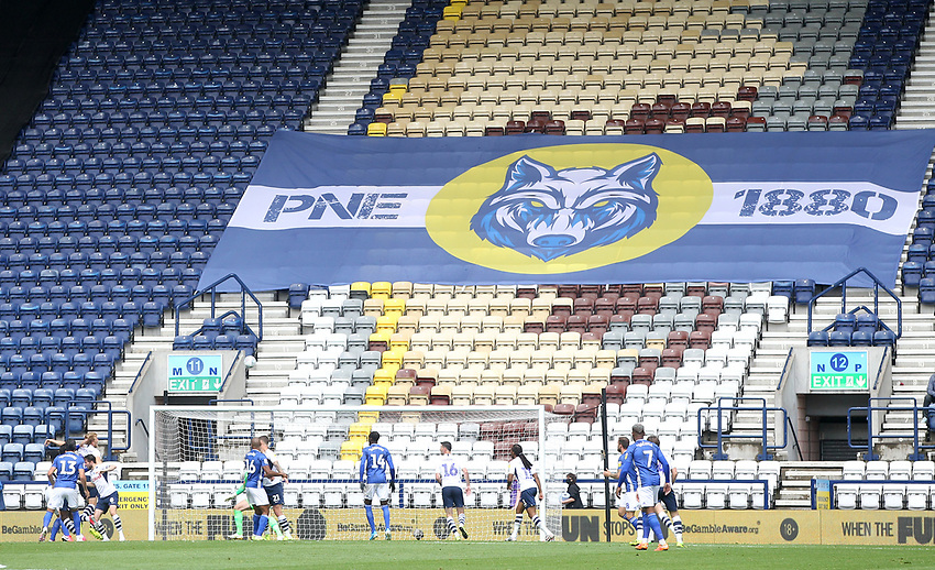 The game is played in front of empty stands<br /> <br /> Photographer Mick Walker/CameraSport<br /> <br /> The EFL Sky Bet Championship - Preston North End v Cardiff  City - Saturday 27th June 2020 - Deepdale Stadium - Preston<br /> <br /> World Copyright © 2020 CameraSport. All rights reserved. 43 Linden Ave. Countesthorpe. Leicester. England. LE8 5PG - Tel: +44 (0) 116 277 4147 - admin@camerasport.com - www.camerasport.com