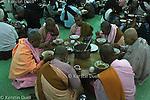 Daily routine in the Mahasi Sasana Yeiktha centre: Breakfast at 5:30 - Burmese nuns -  Thilashin