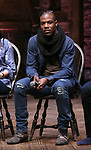 "Justin Dine Bryant during the  #EduHam matinee performance Q & A for ""Hamilton"" at the Richard Rodgers Theatre on 3/28/2018 in New York City."