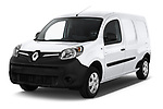 2018 Renault Kangoo ZE Maxi ZE 2 places 4 Door Car van angular front stock photos of front three quarter view