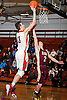 Donatas Kupsas #13 of Long Island Lutheran, left, shoots over Jon Brennen #2 of of Iona Prep during a varsity boys' basketball game at Long Island Lutheran High School on Tuesday, Jan. 26, 2016. Kupsas tallied 15 points and seven rebounds in Lutheran's 58-47 win.
