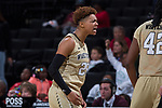 at the LJVM Coliseum on December 18, 2017 in Winston-Salem, North Carolina.  The Demon Deacons defeated the 49ers 71-69.  (Brian Westerholt/Sports On Film)