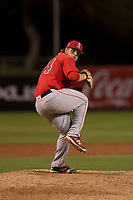 Los Angeles Angels relief pitcher Jonah Weseley (74) during a Minor League Spring Training game against the Milwaukee Brewers at Tempe Diablo Stadium on March 29, 2018 in Tempe, Arizona. (Zachary Lucy/Four Seam Images)
