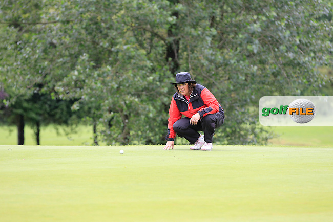 Mr & Mrs Joe Lyons (Galway) on the 2nd during round 1 of The Mullingar Scratch Cup in Mullingar Golf Club on Sunday 3rd August 2014.<br /> Picture:  Thos Caffrey / www.golffile.ie