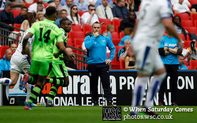 Tranmere Rovers 1 Forest Green Rovers 3, 14/05/2017. Wembley Stadium, Conference play off Final. Mickey Mellon Manager of Tranmere Rovers during the Vanarama Conference play off Final  between Tranmere Rovers v Forest Green Rovers at the Wembley. Photo by Paul Thompson.