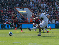 Fulham's captain Aleksandar Mitrovic converts the penalty to scores his side's first goal  <br /> <br /> Photographer David Horton/CameraSport<br /> <br /> The Premier League - Bournemouth v Fulham - Saturday 20th April 2019 - Vitality Stadium - Bournemouth<br /> <br /> World Copyright © 2019 CameraSport. All rights reserved. 43 Linden Ave. Countesthorpe. Leicester. England. LE8 5PG - Tel: +44 (0) 116 277 4147 - admin@camerasport.com - www.camerasport.com