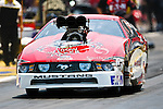 Mike Janis (1456) driver for the Jan-Cen Racing Engines team makes a pass during the O'Reilly Auto Parts Spring Nationals at the Royal Purple Raceway in Baytown,Texas.