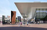 Nederland - Amsterdam - 2018.   Het Stedelijk Museum aan het Museumplein.   Foto Berlinda van Dam / Hollandse Hoogte.
