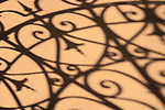 Shadow from iron decorative gate