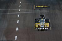 Feb 20, 2015; Chandler, AZ, USA; NHRA top fuel driver Richie Crampton during qualifying for the Carquest Nationals at Wild Horse Pass Motorsports Park. Mandatory Credit: Mark J. Rebilas-
