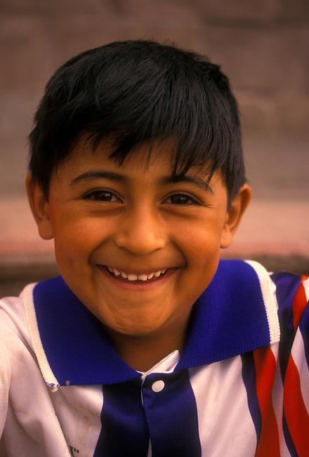 Boy with big smile, Guanajuato, Guanajuato State, Central Highlands, Mexico, North America