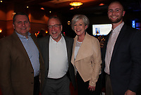NWA Democrat-Gazette/CARIN SCHOPPMEYER Jerry Carmichael (from left), Mike Mawby and Diane and Alex McClung visit at the Youth of the Year celebration.
