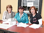 Registration girls Bernie Ward, Brenda Boylan and Dymphna Conlon at the annual Dromin charity cycle. Photo:Colin Bell/pressphotos.ie