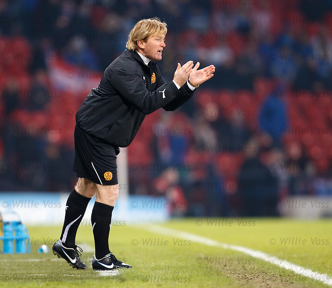 Stuart McCall offers encouragement to his side