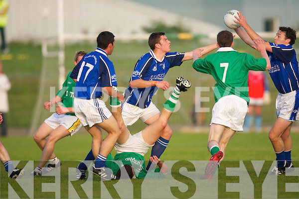 Kerins ORahillys v St Brendans in their County Championship meeting in Austin Stack Park on Saturday evening.