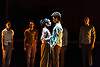 London, UK. 21.11.2017. Rambert presents 'Goat', a new dance theatre creation by Ben Duke as part of their show at Sadler's Wells Theatre, 21-15 November 2017. The work is inspired by the music and spirit of Nina Simone, with a selection of her best-loved songs – including Feeling Good, Ain't Got No/I Got Life and Feelings – performed live by an onstage band led by jazz singer Nia Lynn. Photo shows: Photo - © Foteini Christofilopoulou.