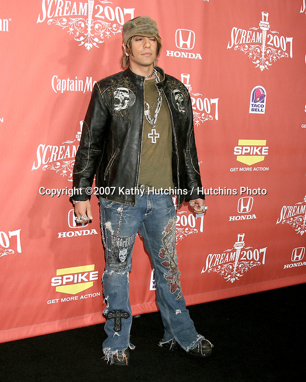 "Criss Angel.Spike TV's ""Scream 2007"" Awards.The Greek Theater.Los Angeles,  CA.October 19, 2007.©2007 Kathy Hutchins / Hutchins Photo...               ."
