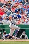 20 May 2018: Los Angeles Dodgers center fielder Cody Bellinger in action against the Washington Nationals at Nationals Park in Washington, DC. The Dodgers defeated the Nationals 7-2, sweeping their 3-game series. Mandatory Credit: Ed Wolfstein Photo *** RAW (NEF) Image File Available ***