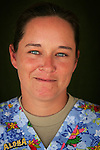 Sgt. Kimi Bitzer, 33, Fayetteville, NC, Medical NCO, Charlie Medical Company 501st Field Support Battalion 1st Brigade 1st Armored Division taken at the company's medical facility at Camp Ramadi, Iraq on Saturday Sept. 30, 2006.<br />